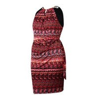 Jessica Simpson Women's Belted Halter Jersey Dress - Print - 14