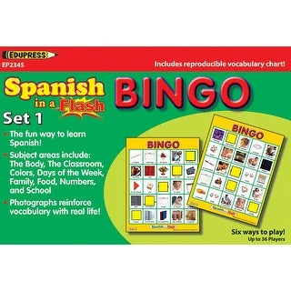 Spanish In A Flash Bingo Set 1