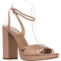 MICHAEL Michael Kors Yoonie Platform Ankle Strap Sandals, Oyster