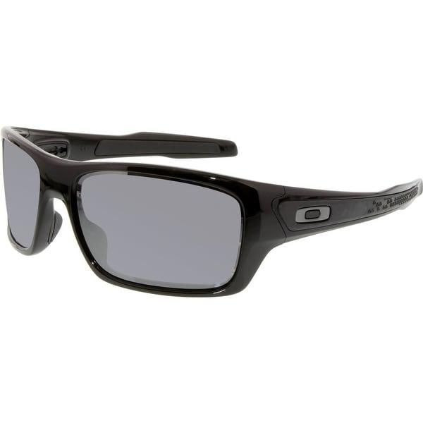 a29811e578a Shop Oakley Men s Turbine OO9263-03 Black Wrap Sunglasses - Free ...