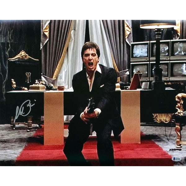 9f4a40444 Al Pacino Signed Scarface 16x20 Say Hello To My Little Friend Photo BAS