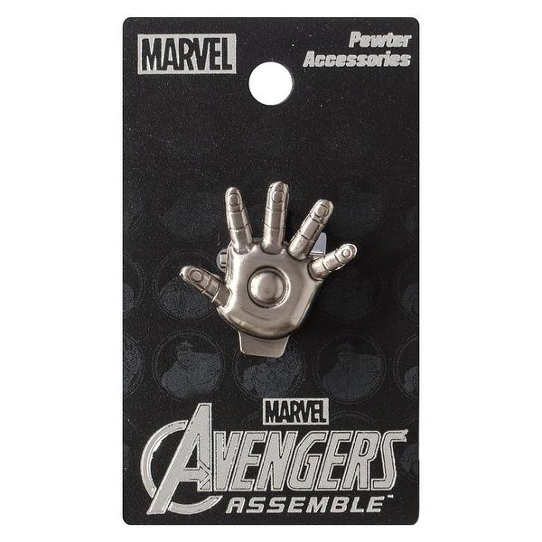 Marvel Pewter Lapel Pin Iron Man Palm - multi