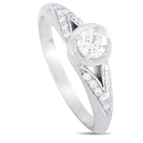 Bvlgari Platinum 0.36 ct Diamond Engagement Ring Size 4.5