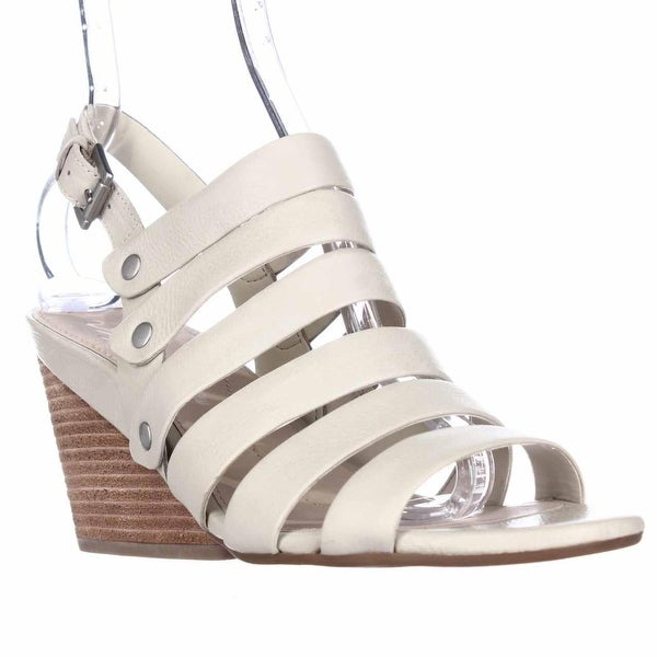 Naya Lassie Strappy Wedge Sandals, Light Taupe Leather