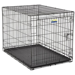 MidWest 842 Contour Single-Door Folding Dog Crate with Divider Panel, 42""