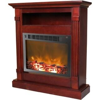 Cambridge Sienna CAM3437-1MAH Fireplace Mantel with Electronic Fireplace Insert, Mahogany