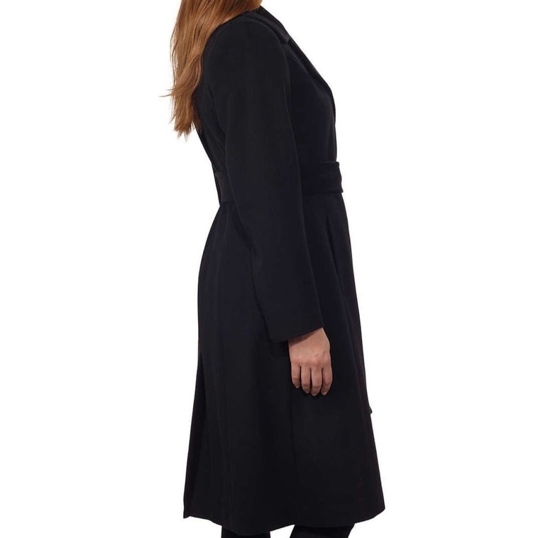 *NEW* George Simonton Couture Women/'s Cashmere Long Belted Wrap Coat