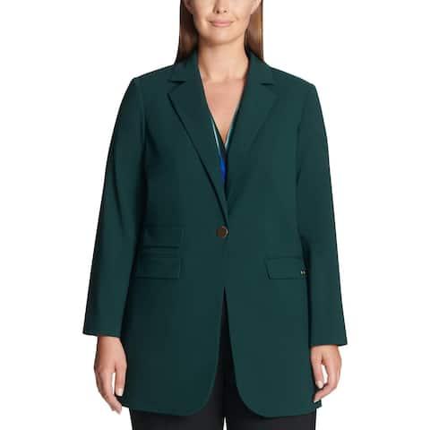 Calvin Klein Womens Plus Blazer Long Sleeves Suit