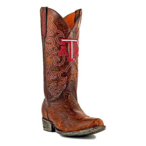 Gameday Boots Mens College Team Texas A&M Reveille Brass