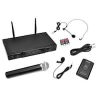 Very High Frequency Wireless Microphone Receiver System with