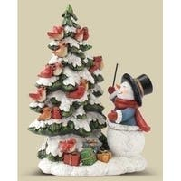 "7.38"" Joseph's Studio Snowman Bird Choir Christmas Table Top Decoration"