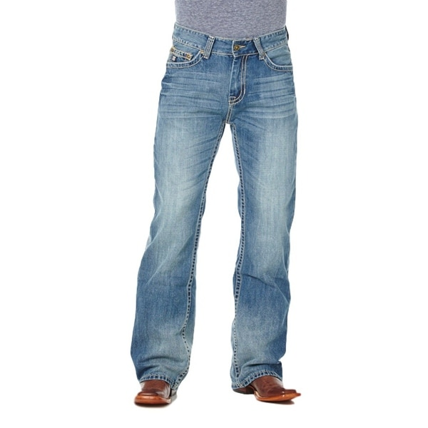 Cowboy Up Denim Jeans Mens Relaxed Fit Med Stonewash CBJ30601