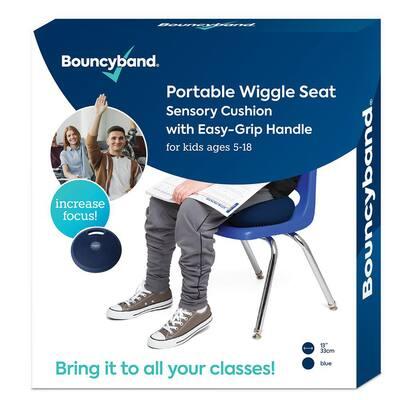 Portable Wiggle Seat Sensory Cushion, Blue