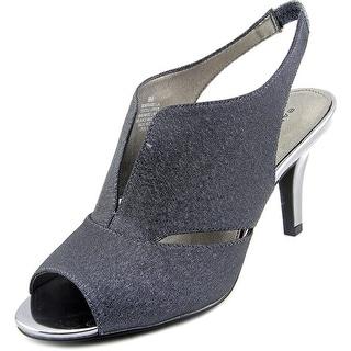 Bandolino Mirabella Open-Toe Canvas Slingback Heel