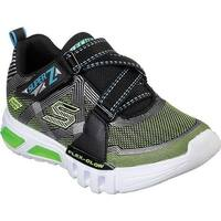 Skechers Boys' S Lights Flex-Glow Parrox Sneaker Black/Lime