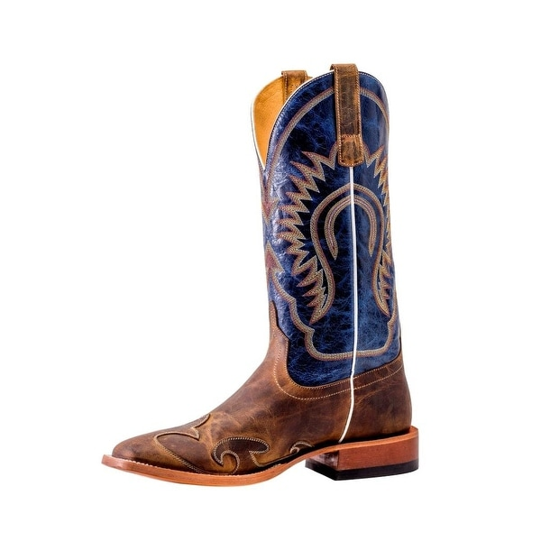 Horse Power Western Boots Mens Oxbow DB Toe Saddle Made Dog