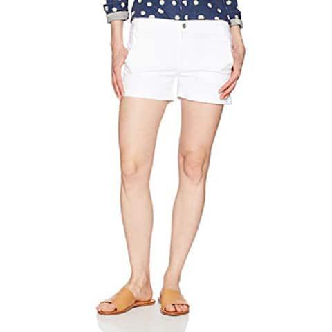 Express Women's Mid Rise Short, White, 10