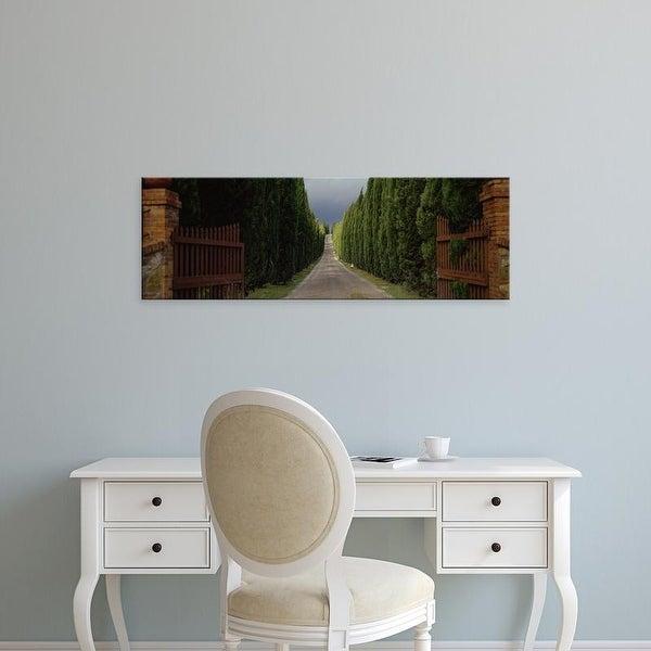 Easy Art Prints Panoramic Images's 'Road, Tuscany, Italy,' Premium Canvas Art