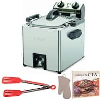 Waring Pro TF200B Rotisserie Turkey Fryer with Cookbook and Oven Mitt Bundle (Refurbished)