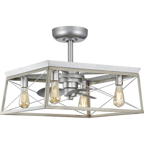 Briarwood Collection 22-Inch 3-Blade Galvanized AC Motor Ceiling Fan - 22 in x 22 in x 17 in