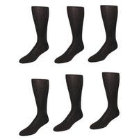 Vannucci Men's Cotton Over the Calf Dress Socks (Pack of 6)