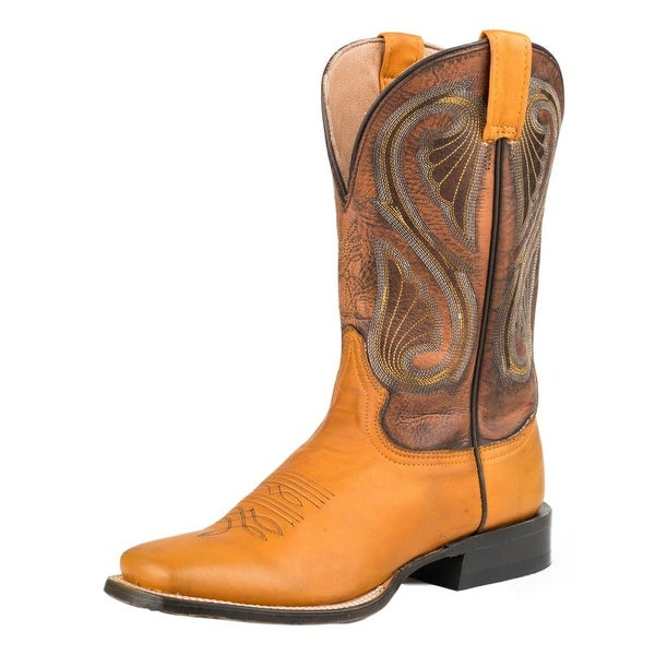 Stetson Western Boots Women Past Spur Ledge Square
