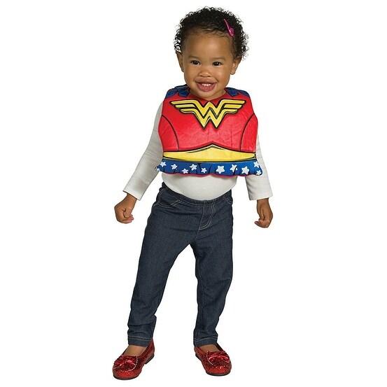 DC Comics Wonder Woman Baby Costume Bib w/ Removable Cape - Red  sc 1 st  Overstock.com & DC Comics Wonder Woman Baby Costume Bib w/ Removable Cape - Red ...