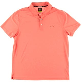 Greg Norman Mens Slim Fit Moisture Wicking Polo Shirt