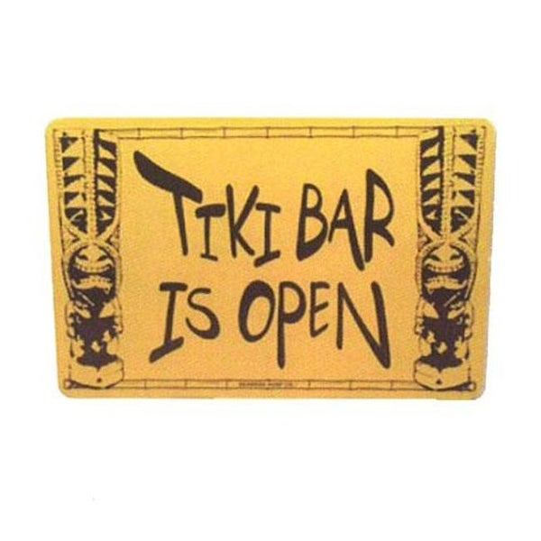 Seaweed Surf Co Sf58 12x18 Aluminum Sign Tiki Bar Is Open Free Shipping On Orders Over 45 24999578