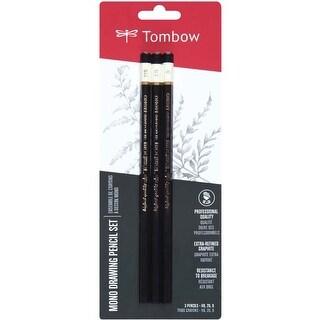 Black - Tombow Mono Drawing Pencils 3/Pkg