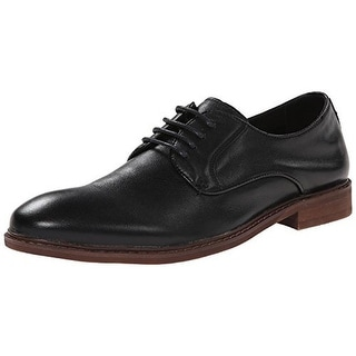 Steve Madden Mens Danfortt Leather Lace-Up Oxfords