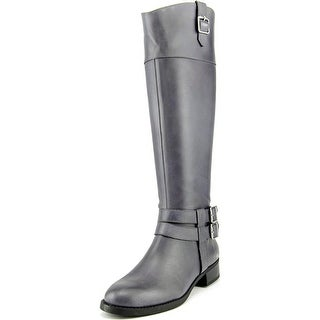 INC International Concepts Fahnee Women Round Toe Leather Gray Knee High Boot
