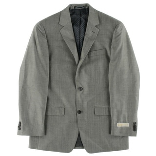MICHAEL Michael Kors Mens Jacket Herringbone Silk Blend - 38r