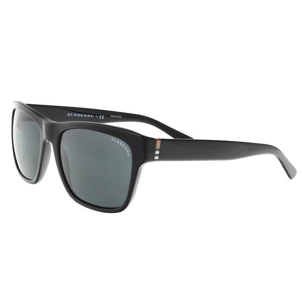 658b335d2f6 Shop Burberry BE4194 300187 Black Square Sunglasses - 58-18-145 ...
