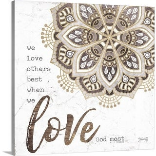 """Love God Most"" Canvas Wall Art"