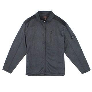 Greg Norman Gray Mens Size XL Full-Zip Stand-Collar Rapidwarm Jacket