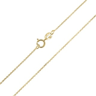 Bling Jewelry Gold Plated Sterling Silver Cable Chain Diamond Cut 20 Gauge