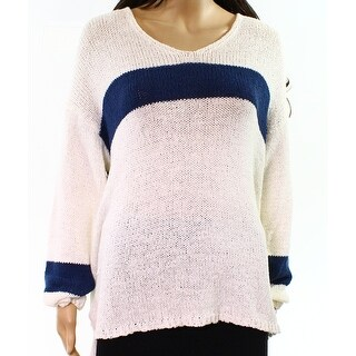Two By Vince Camuto NEW White Ivory Women Size Large L Purl Knit Sweater