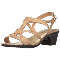 Easy Street Womens Britney Open Toe Casual Slingback Sandals