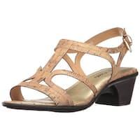Easy Street Womens Britney Open Toe Casual Slingback Sandals