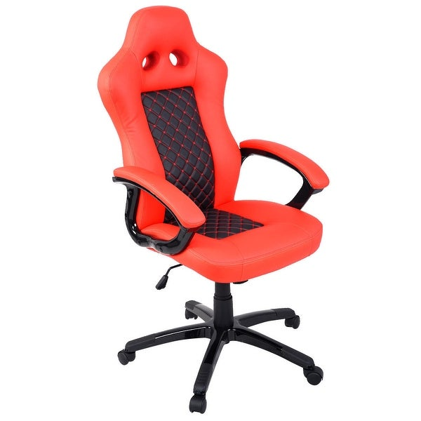 Charmant Costway High Back Race Car Style Bucket Seat Office Desk Chair Gaming Chair    Red