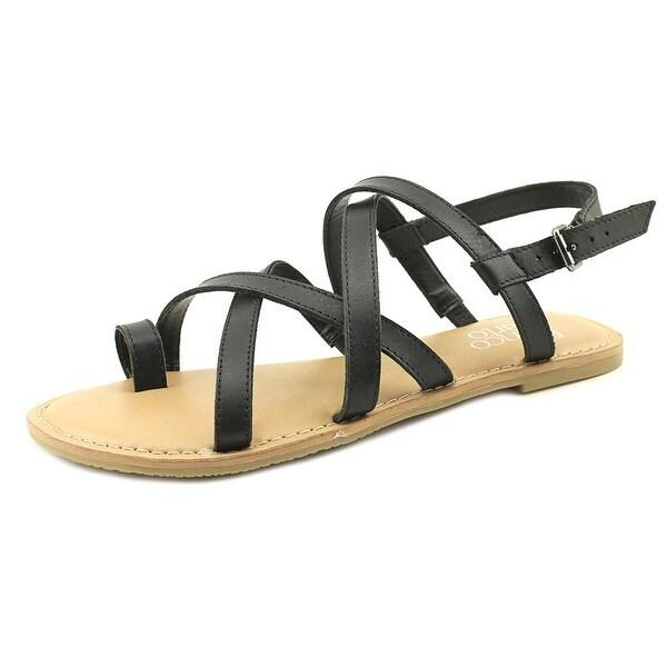 Franco Sarto Jared Women Open-Toe Leather Black Slingback Sandal