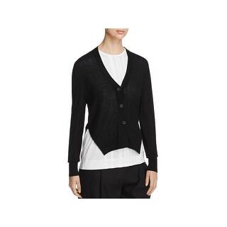 DKNY Womens Petites Cardigan Sweater Silk Merino Wool - p