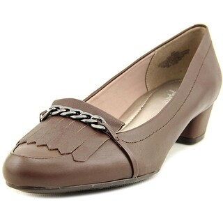 Easy Spirit Ummani Women W Round Toe Leather Brown Heels