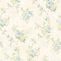 Brewster MEA79102 Chiswick Cream Hydrangea Trail Wallpaper