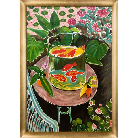 Henri Matisse 'The Gold Fish' Hand Painted Oil Reproduction