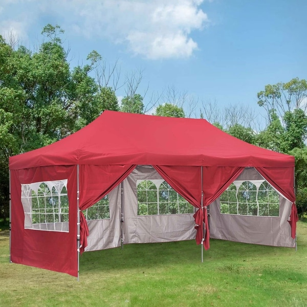 Ainfox 10x20Ft Pop up Canopy Tent Party Heavy Duty Instant Gazebo with 4 Removable Sidewalls. Opens flyout.