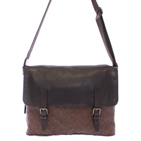 Dolce & Gabbana Brown leather messenger Men's bag - One Size