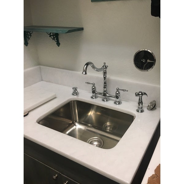 Ukinox D610.457 Single Basin Stainless Steel Dual Mount Washboard Laundry  Sink   Free Shipping Today   Overstock.com   16049861