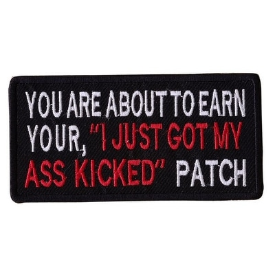 YOU ARE ABOUT TO EARN Embroidered Iron On Motorcycle Biker Vest Patch P19